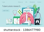concept of tuberculosis ... | Shutterstock .eps vector #1386477980