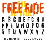 free ride. grunge tire letters. ...   Shutterstock .eps vector #1386479813