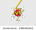 Stock vector versus fight backgrounds in flat comics style vs battle challenge isolated on transparent 1386482663