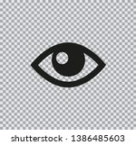 vector flat icon of eyes black... | Shutterstock .eps vector #1386485603
