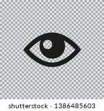 vector flat icon of eyes black...   Shutterstock .eps vector #1386485603