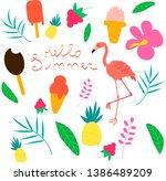 set of vector summer...   Shutterstock .eps vector #1386489209