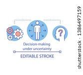 decision making under... | Shutterstock .eps vector #1386497159