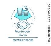 peer to peer lender concept...   Shutterstock .eps vector #1386497180