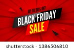 black friday sale banner  up to ... | Shutterstock .eps vector #1386506810