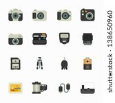 camera icons and camera... | Shutterstock .eps vector #138650960