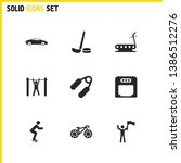activity icons set with the...