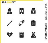 medical icons set with...