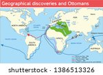 geographical discoveries in the ... | Shutterstock .eps vector #1386513326