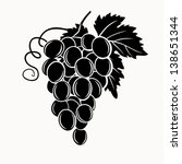 black silhouette of grapes.... | Shutterstock .eps vector #138651344