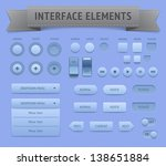 user interface elements. vector ...