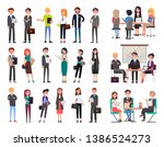 business people collection... | Shutterstock . vector #1386524273