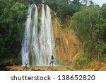 el limon waterfall  dominican... | Shutterstock . vector #138652820