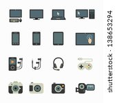 electronic devices icons with... | Shutterstock .eps vector #138653294