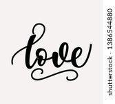 love   lettering design. vector ...   Shutterstock .eps vector #1386544880