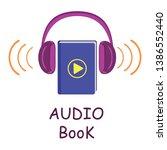 audio book to listen to e books....   Shutterstock .eps vector #1386552440