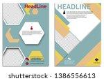 infographics in brochures for... | Shutterstock .eps vector #1386556613