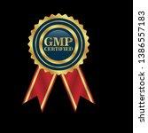 good manufacturing practice.... | Shutterstock .eps vector #1386557183