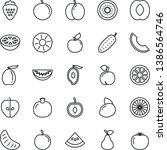 thin line vector icon set  ... | Shutterstock .eps vector #1386564746