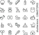 thin line vector icon set  ...   Shutterstock .eps vector #1386572903
