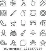 thin line vector icon set  ...   Shutterstock .eps vector #1386577199