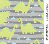 cute seamless pattern with... | Shutterstock .eps vector #1386583430