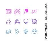 vector illustration of 12... | Shutterstock .eps vector #1386583856