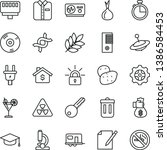 thin line vector icon set  ... | Shutterstock .eps vector #1386584453