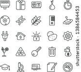 thin line vector icon set  ... | Shutterstock .eps vector #1386584453