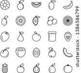 thin line vector icon set   jam ...   Shutterstock .eps vector #1386586799