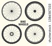 bicycle wheel symbol vector... | Shutterstock .eps vector #1386587333
