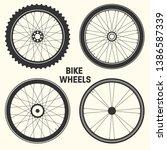 bicycle wheel symbol vector...   Shutterstock .eps vector #1386587339
