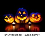 Scary Halloween Pumpkins With...