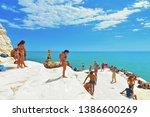 25.08.2018. white cliffs...   Shutterstock . vector #1386600269