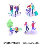 happy lover relationship ... | Shutterstock .eps vector #1386609683