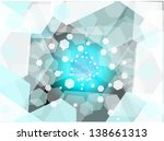 virtual blue hexagon vector... | Shutterstock .eps vector #138661313