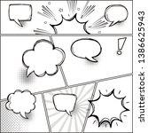 comic speech bubbles on a comic ... | Shutterstock .eps vector #1386625943