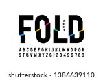 folded style colorful font... | Shutterstock .eps vector #1386639110