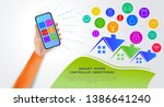 smart home automation...   Shutterstock .eps vector #1386641240