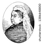 queen victoria  1819 1901  she... | Shutterstock .eps vector #1386648800