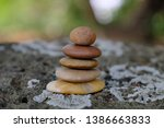 zen stone  symbol of balance... | Shutterstock . vector #1386663833