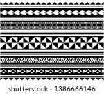 tribal polynesian tattoo... | Shutterstock .eps vector #1386666146
