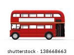 red double decker bus isolated... | Shutterstock . vector #138668663