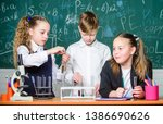 test tubes with substances.... | Shutterstock . vector #1386690626