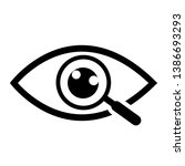 magnifier with eye outline icon.... | Shutterstock .eps vector #1386693293