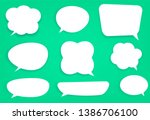 set of white speech bubbles... | Shutterstock .eps vector #1386706100