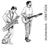 street musicians | Shutterstock . vector #138672626