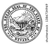 the great seal of the state of... | Shutterstock .eps vector #1386734969