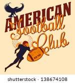 college american football... | Shutterstock .eps vector #138674108