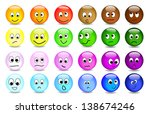 vector smileys | Shutterstock .eps vector #138674246